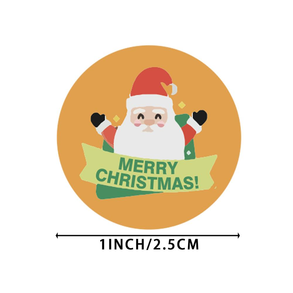 500pcs/roll Cute Cartoon Stickers Christmas Gift Decoration Packaging Stationery Merry Christmas Seal Label Sticker-1