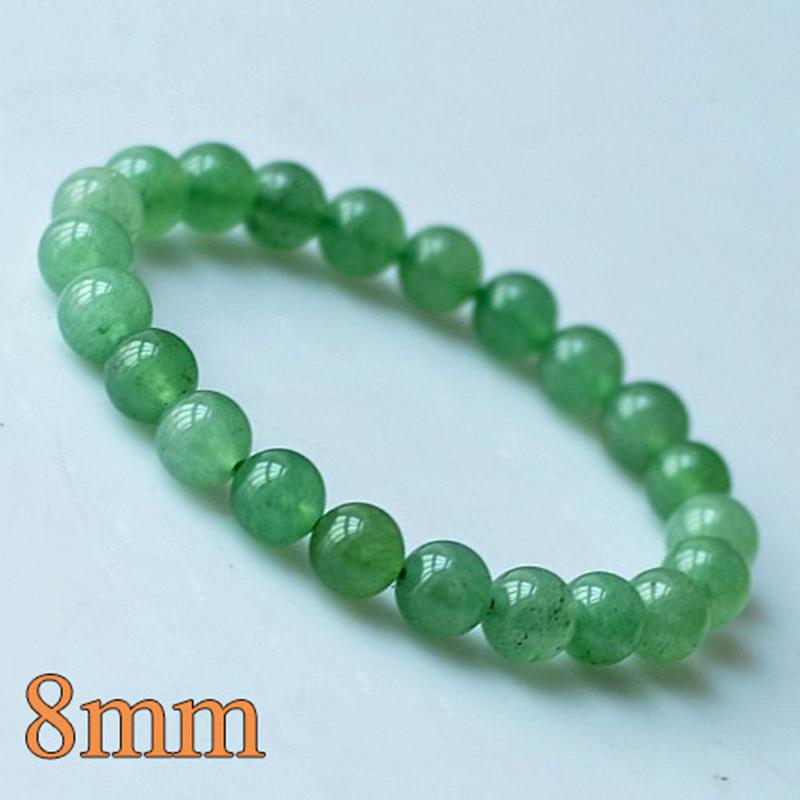 MOROW 100% Natural Green Aventurine Round Bead Stone Bracelet Jewelry Simple Women`s Men Bracelets Fashion Classic Accessory New (10)