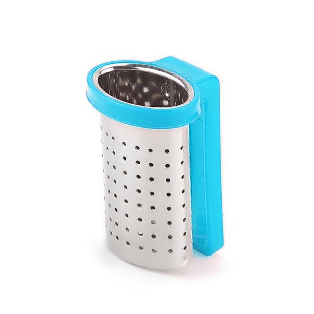 2pcs Stainless Steel Loose Tea Infuser Teapot Filter Strainer Sieve Cup Mugs Light Blue