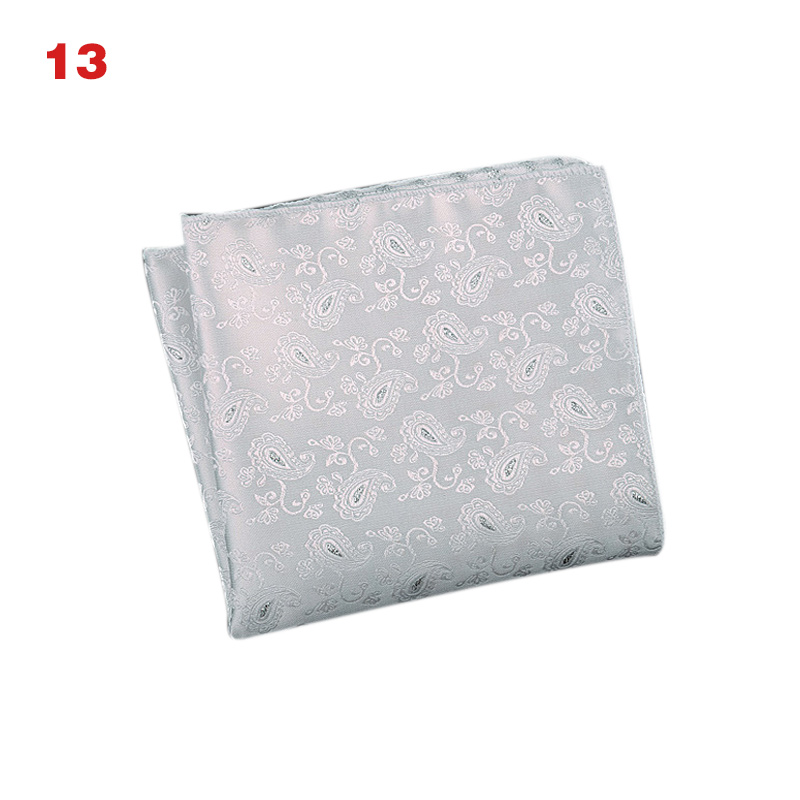 Men's Handkerchief  Striped Floral Printed Hankies Polyester Business Pocket Square Chest Hanky High Quality