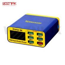 Mechanik icharge 6M QC 3.0 USB multi ładowarka sieciowa mobilny tablet z funkcją telefonu szybkie ładowanie inteligentny wyświetlacz cyfrowy Multi interface