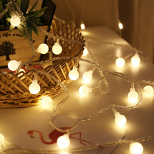 String-Lights Garland Led-Ball Christmas-Tree Indoor Decoration Waterproof Battery Fairy