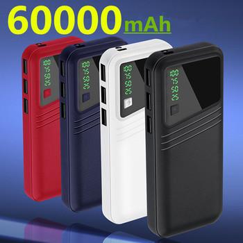 Power Bank 60000mAh Powerbank dla Xiaomi mi Power Bank zewnętrzna bateria mobilna przenośna ładowarka LED Poverbank Power Bank tanie i dobre opinie ALLPOWERS Bateria litowo-polimerowa Wsparcie szybkie ładowanie Z latarką Cyfrowy wyświetlacz Potrójne USB 50001 mAh-100000 mAh