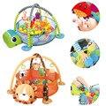 Baby 3 in 1 Fitness Rahmen Spiel Decke Multifunktionale Cartoon Spielen Kriechende Matte Schildkröte Lion Ozean Ball pool 0-18 monate Spielzeug