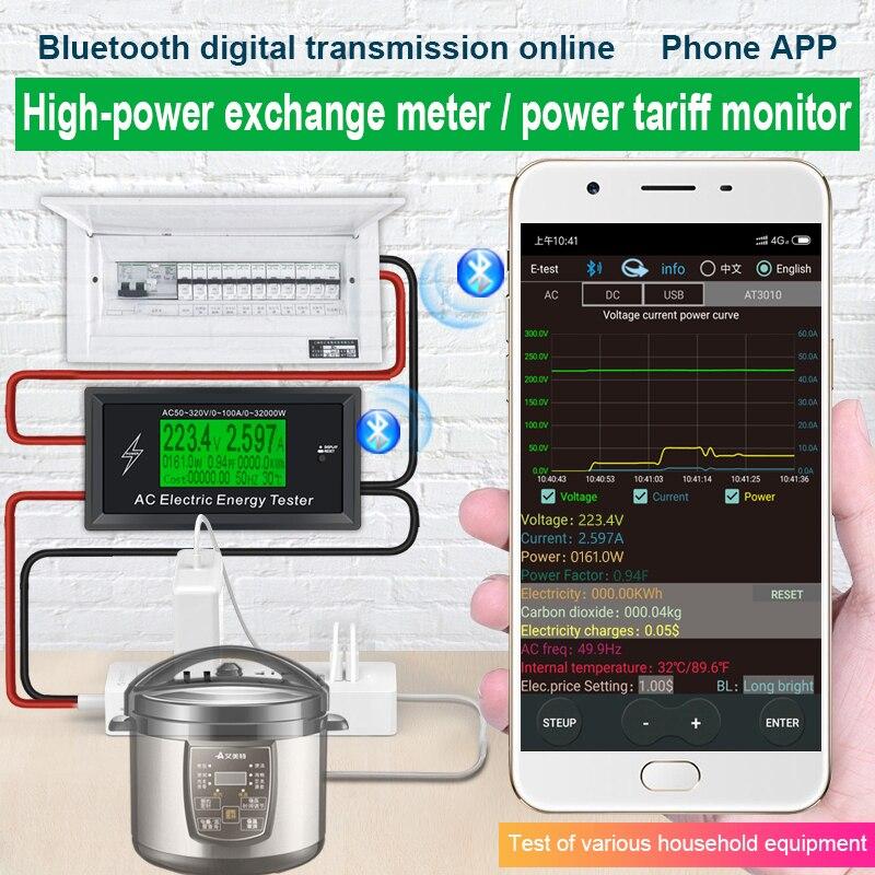 Высококачественный амперметр с электрической энергией, амперметр, вольтметр, измеритель точной мощности кВт/ч, ватт, тестер напряжения, ток...