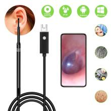 лучшая цена 2-in-1 USB HD Visual Ear Health Care Cleaning Spoon Tool 5.5mm Multifunctional Earpick With Mini Camera Endoscope For Android