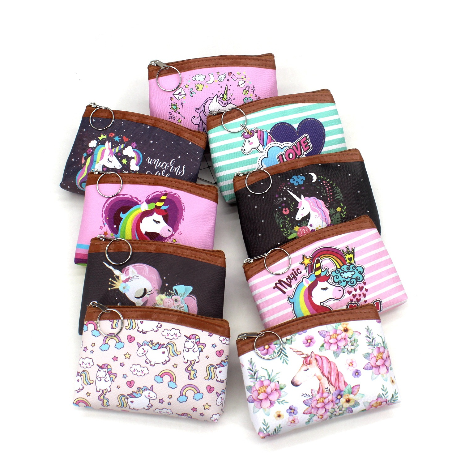 Unicorn Coin Purses Women Cartoon Mini Wallet Cute Card Holder Ladies Key Money Bags Girls Zero Purse Female Kids Children Pouch