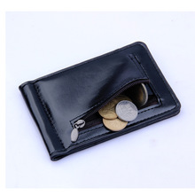 цена на Slim Genuine Leather Wallet Male Men Wallets Zipper Coin Purse 2019 Autumn Cowhide Money Clip Holder Cartera Hombre Portemonnee
