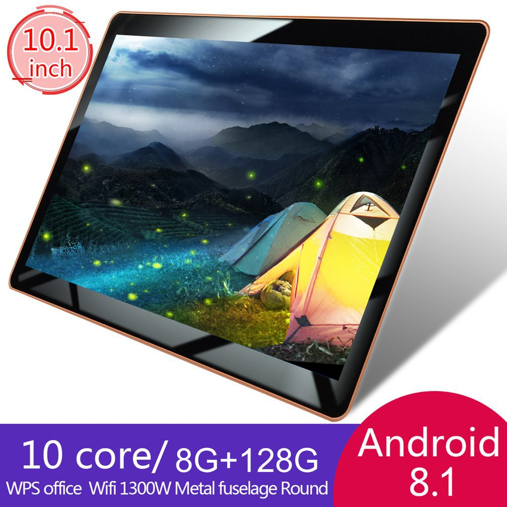 2019 10 Inch Tablet PC 3G LTE Android 8.1 10 Core Metal  Tablets 8GB RAM 128GB ROM WiFi GPS 10.1 Tablet IPS WPS CP9