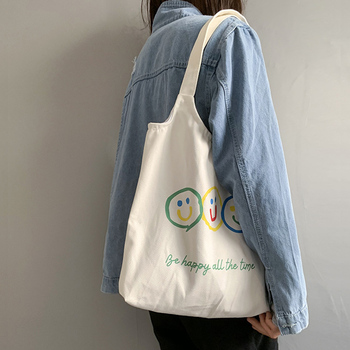 Woman's Canvas Tote Shopping Bag Eco Reusable for women 2019 School Travel Women Shopper sac a main - discount item  50% OFF Special Purpose Bags