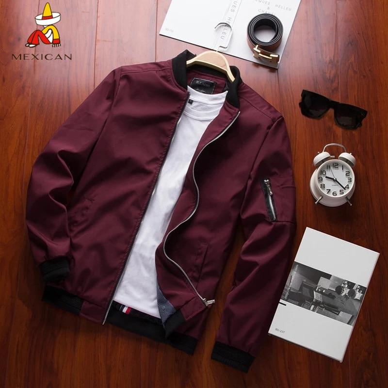 MEXICAN New Men's Bomber Zipper Jacket Male Casual Streetwear Hip Hop Slim Fit Pilot Coat Men Clothing Plus Large size|Jackets| - AliExpress