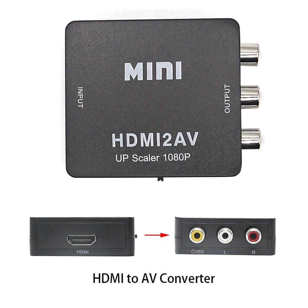 Адаптер hdmi-av, преобразователь HD-видео, преобразователь с HDMI на RCA AV/CVSB L/R, видео 1080P HDMI2AV, поддержка NTSC PAL