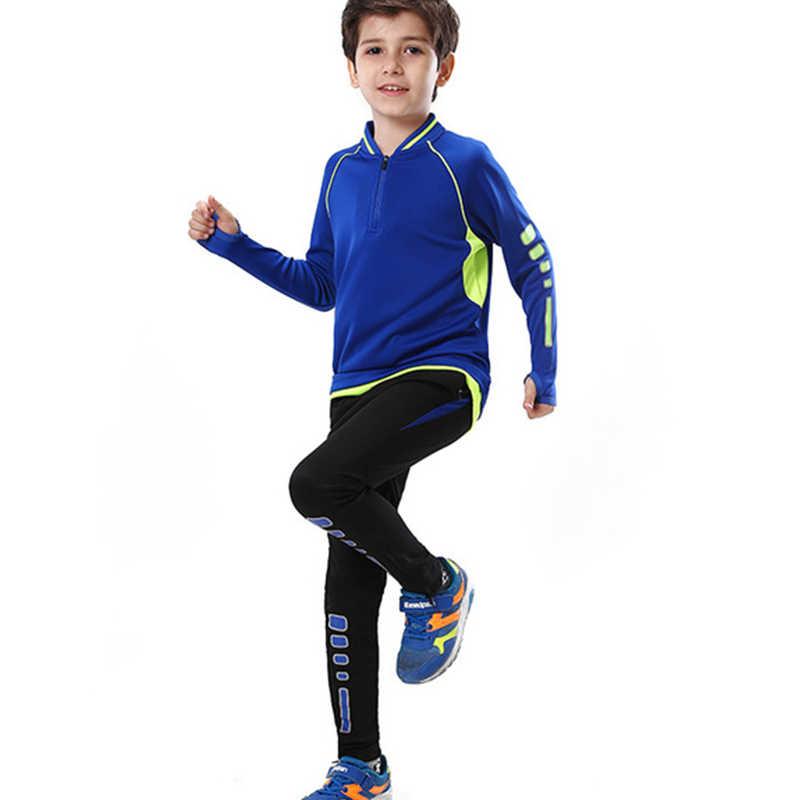 Personalizzare I Bambini di Età di Calcio Training Tute Autunno Inverno Pullover di Calcio Kit Uomini Ragazzi Futsal Uniformi 2 PCS Vestiti di Sport