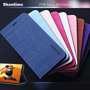 Image 1 - Роскошный чехол книжка из искусственной кожи для Meizu M5S A5, чехол книжка с бумажником для Meizu M5 M5C, деловой чехол для телефона, Мягкая силиконовая задняя крышка из ТПУ