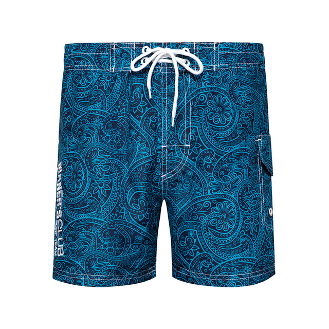 Summer Casual Mens Beach Shorts Loose-Fit Surfing Shorts Straight-Cut Shorts Men's New Style Printed Board Shorts 4