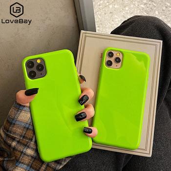 Lovebay fluorescencyjny kolor etui na telefon dla iPhone 11 Pro Max 6 6s 7 8 Plus X XR XS Max miękki TPU zwykły czysty jednolity kolor tylna okładka tanie i dobre opinie Aneks Skrzynki Soft Fluorescent Color TPU Phone Case Apple iphone ów IPHONE XS MAX Iphone 6 plus IPhone11 IPHONE 6S IPHONE 8 PLUS