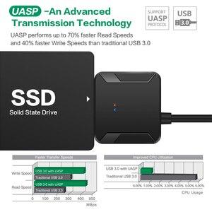 Image 5 - محول USB 3.0 إلى SATA 3 ، كابل تحويل 2.5/3.5 بوصة ، محرك أقراص صلبة خارجي HDD SSD