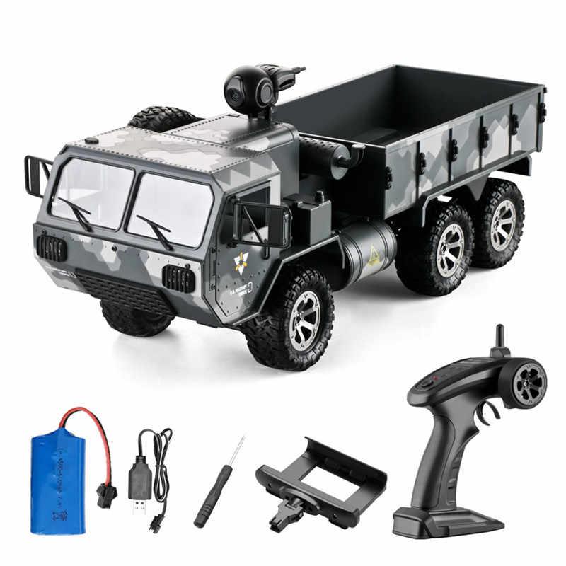 شاحنة عسكرية أمريكية من Eachine طراز at01 موديل 1/16 2.4G 6WD RC بتحكم متناسب مع الجيش الأمريكي طراز RTR سيارات RC عالية السرعة