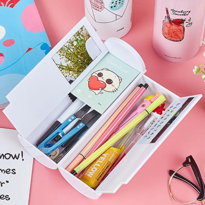 NBX Kawaii Pencil Case Newmebox Simple School Supplies Stationery Pencilcase Student Stylish Pen Case Learning Tools Calculator
