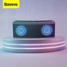 Baseus مكبر صوت بخاصية البلوتوث قابل للنقل 5.0 مكبرات صوت لاسلكية في الهواء الطلق نظام صوت ستيريو ثلاثية الأبعاد مكبر صوت محيطي موسيقي يدعم TF AUX