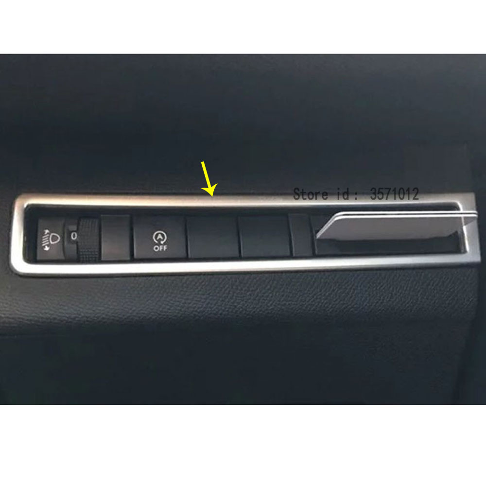 For <font><b>Peugeot</b></font> <font><b>3008</b></font> GT 3008GT <font><b>2016</b></font> 2017 2018 2019 2020 Car Stick Cover Front Head Fog Intelligent Light Switch Trim Frame Lamp image