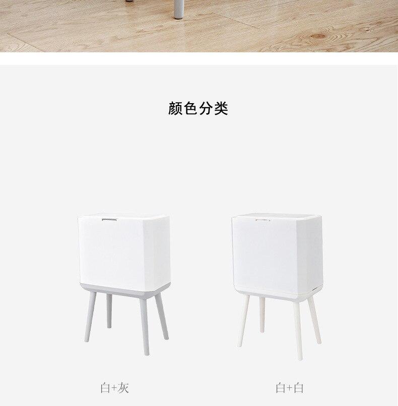 Casa produtos df50ljt lata de lixo branca
