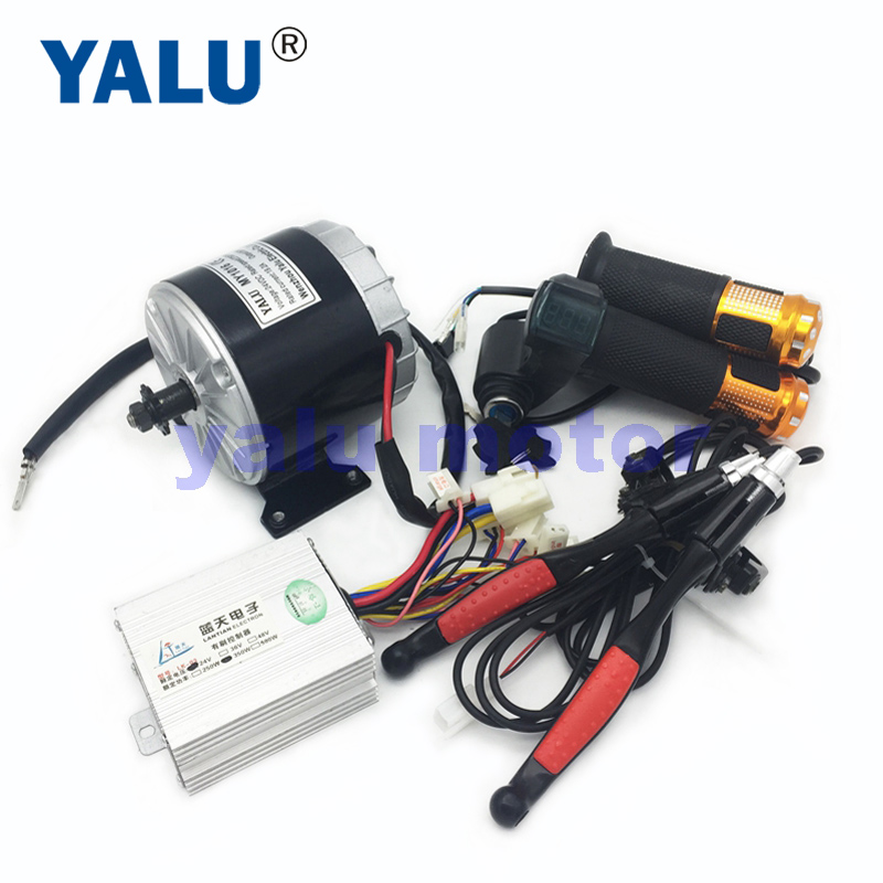 350W Electric DC Gear Motor Kit And Controller And Throttle Handle With Battery
