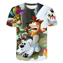 2021 new fashion short sleeve boys' and girls' T-shirt, children's animation printing, summer fun custom round neck T-shirt