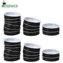 12 pièces d'étanchéité bouchons en métal étanche Tinplaste couvercles Mason Jar couverture pour bouteilles