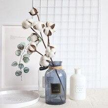 10 Headsnaturally Gedroogde Katoen Bloem Kunstplanten Bloemen Tak Voor Wedding Party Decoratie Nep Bloemen Home Decorflower