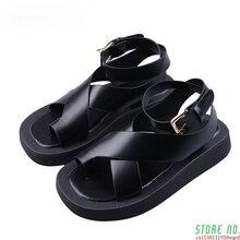 Femmes Été Sandales Mode 2021 Nouvelle Plage Blanc Boucle Décontracté Chaussures À Bout Ouvert Femmes Bureau Dames Chaussure