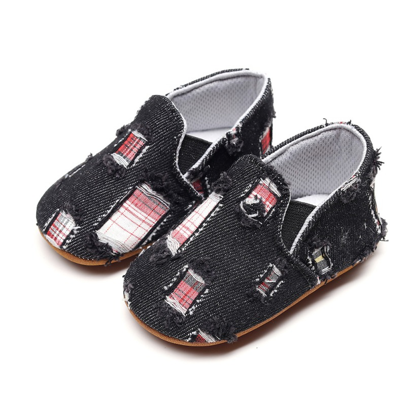 New Infant Casual Shoes Newborn First Walkers Toddler Baby Girl Boy Shoes Baby Soft Sole Denim Sneakers