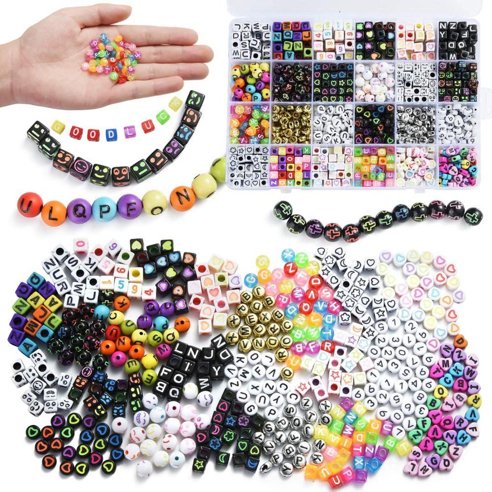 500pcs Cubic Mixed Heart Acrylic Loose Beads Spacer Beads Necklace Jewelry 7mm