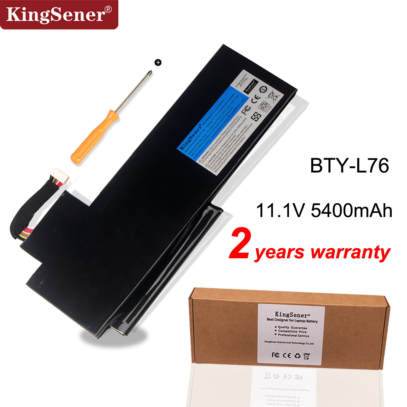 KingSener BTY-L76 Battery For MSI GS70 2OD 2PC 2PE 2QC 2QD 2QE GS72 MS-1771 MS-1772 MS-1773 MS-1774 For MEDION X7613 MD98802