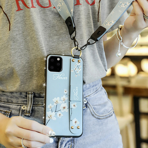 Finger ring Wrist Strap stand case for apple iphone 11 pro max iphone11 11pro 11max luxury Diamond bling soft phone back cover Islamabad