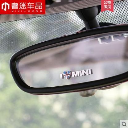 Union Jack Metal I LOVE MINI Sticker Emblem Decals For Mini Cooper Countryman Clubman F55 F56 R55 R56 R60 F60 Car Accessories