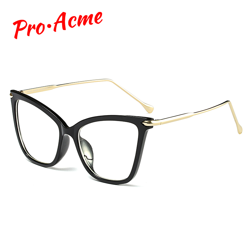 Pro Acme Ladies Sexy Big Cat Eye Glasses Frames Women Trending Styles Brand Designer Optical Glasses Computer Eyeglasses CC1271