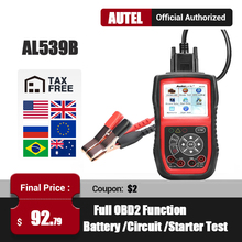 Autel al539b obd2 scanner automotivo ferramenta de teste elétrico para o carro obd2 ferramenta diagnóstico eobd obd 2 leitor código pk al539