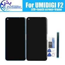 Umidigi f2 display lcd + digitador da tela de toque montagem do quadro 100% original novo lcd digitador toque para umidigi f2 ferramentas