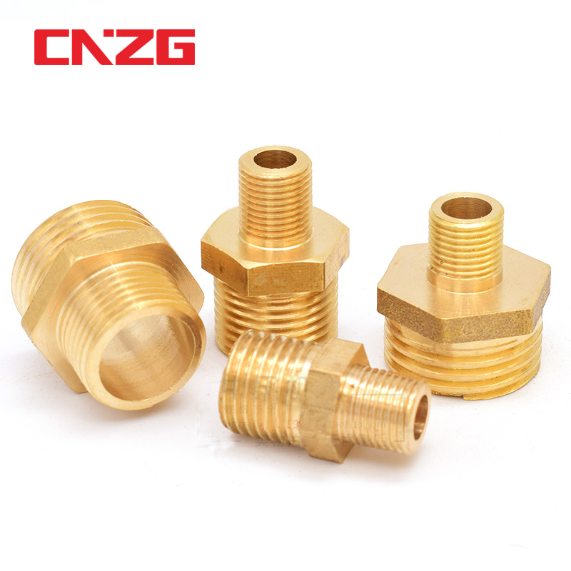 2pcs 1BSP to 3//4BSP M//F Threaded Brass Air Pipe Fittings Reducer Bushing Adapter