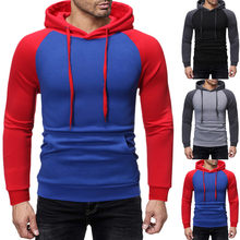 Dropshipping Men Autum Winter Long Sleeve Hooded Sweatshirt Patchwork Outwear Tops Blouse Casual Dress Women Korea style(China)