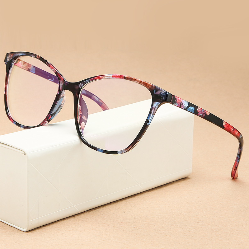 Higodoy Fashion Women Cateye Glasses Frame Transparent Clear Lens Spectacle Eyeglasses Frame