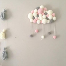 Новая Детская комната Декор детской кроватки облако фигурные украшения струны Hairball висячие украшения для дома детские фотографии реквизит Детский Комплект постельного белья