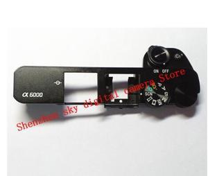 Image 1 - Cubierta superior para SONY ALPHA A6000 con Flash emergente y Dial, pieza de reparación (negro o plateado), novedad de 90%