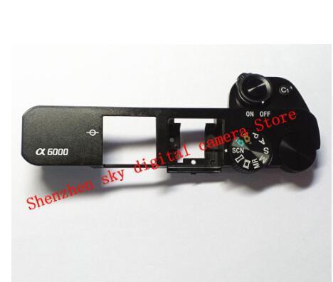 Cubierta superior para SONY ALPHA A6000 con Flash emergente y Dial, pieza de reparación (negro o plateado), novedad de 90%