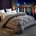 Дешевое и удобное одеяло 100% белое сверхтонкое волокно зимнее одеяло полиэстер одеяло наполнитель с хлопковым покрытием
