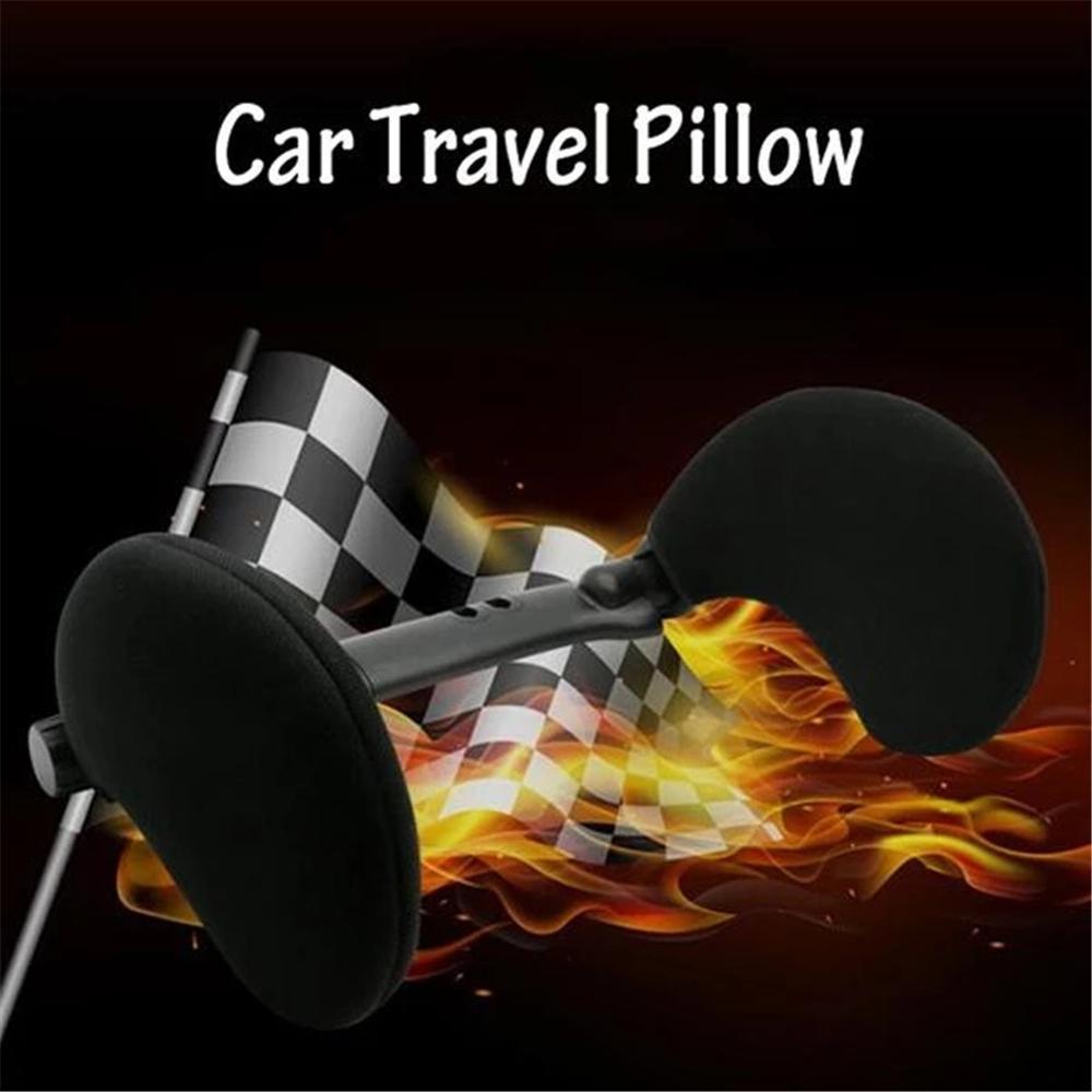 Yoaa Car Seat Headrest Pillow U Shape Sleeping Travel Car Seat Pillow Car Support Pillow for Neck Pain Relief Adjustable Headrest Car Cushion Car Side Cushion for Kids Adults Elders Black