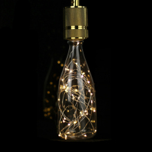 3D LED Light Edison Bulb Retro Wine Bottle Copper Wire Lamp Warm White Drift Bottle AC85-265V 1.5W E27 LED Bar Decoration Lamp