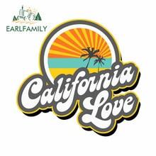 EARLFAMILY – autocollant pare-choc étanche pour casque de moto, ordinateur portable, personnalité créative, réfrigérateur, californie Love, 13cm x 12.5cm