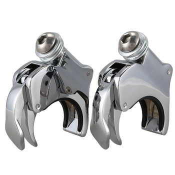 49Mm Detachable Windshield Clamps for Dyna Super Glide Low Rider Bob Street Bob Wide Glide 06-16 XL1200X VRSCX